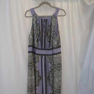 Palmetto Maxi Dress Black & Lavender